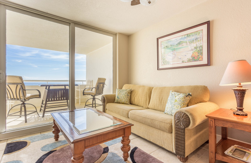 Rental living room at Perdido Sun Condos.