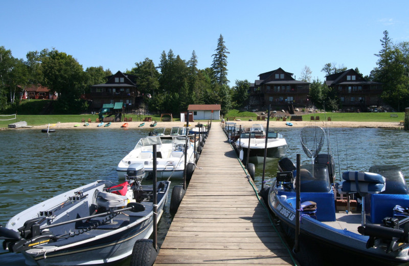 Dock at White Birch Resort.