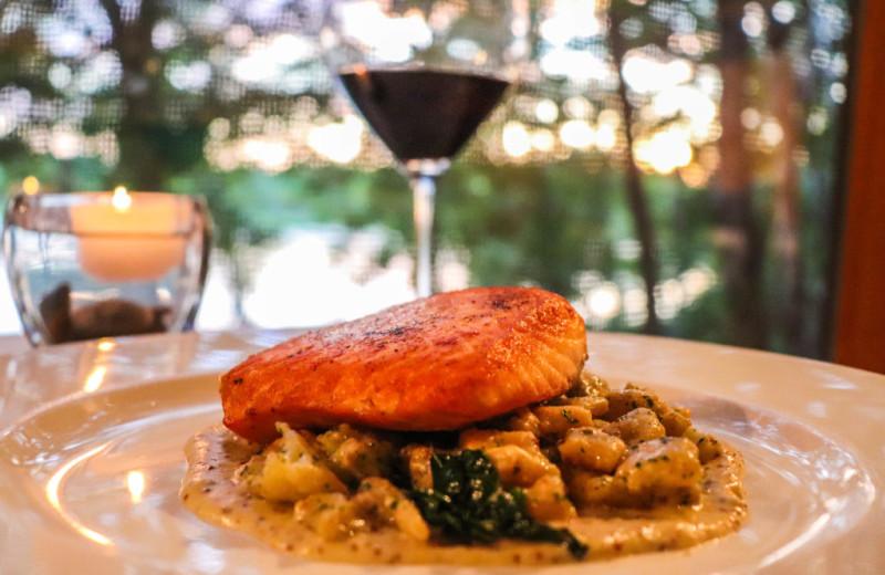 Dining at Wilderness Resort Villas.