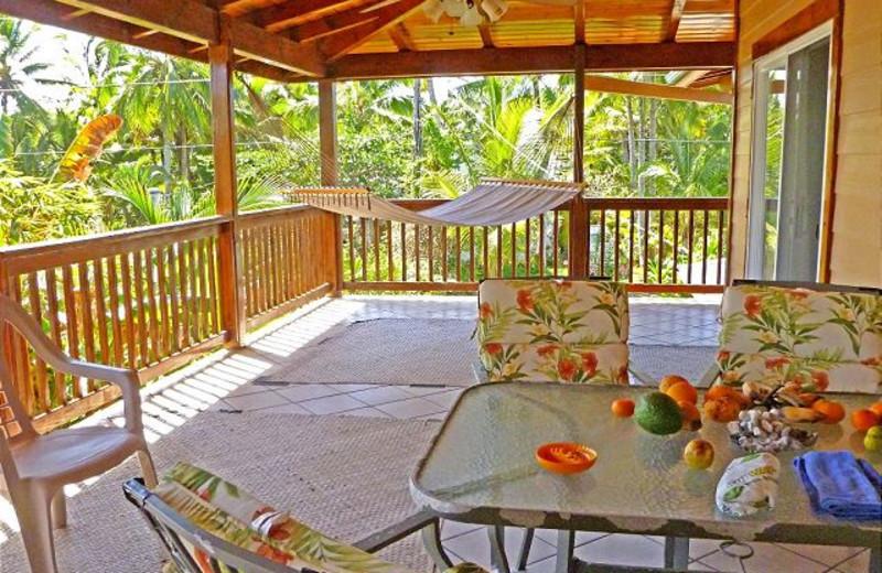 Vacation rental porch at Big Island Vacation Rentals.