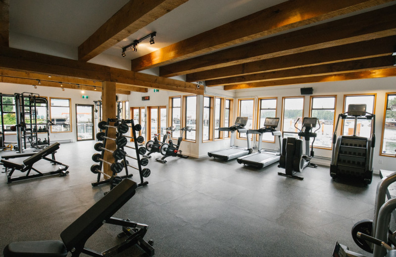 Fitness room at Tofino Resort + Marina.