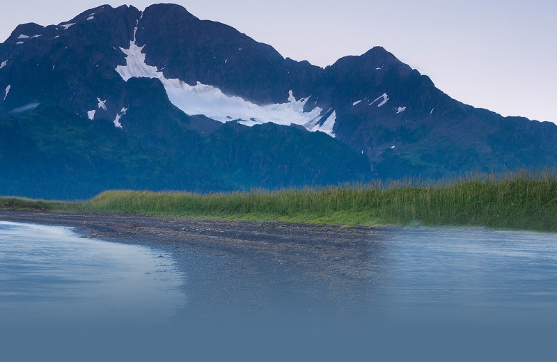 Mountain view at Kenai Backcountry Lodge.