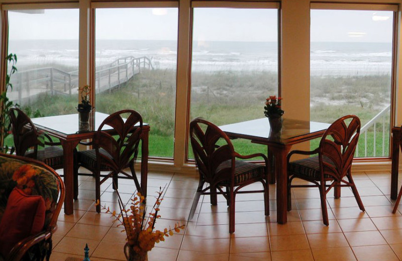 Dining at Pelican Path B & B By The Sea.