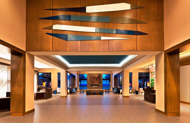 Lobby at Westin Jekyll Island.