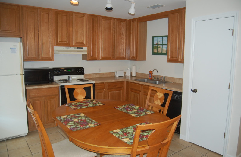 Guest kitchen at Southern Shores Beach Resort.