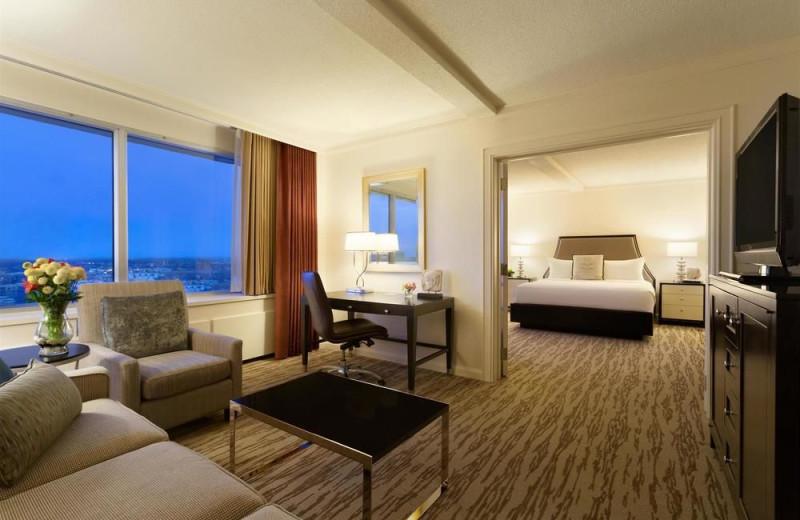 Guest room at The Fairmont Winnipeg.