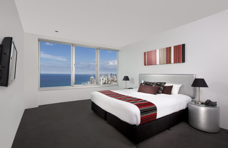 Guest room at Q1 Resort Surfers Paradise.