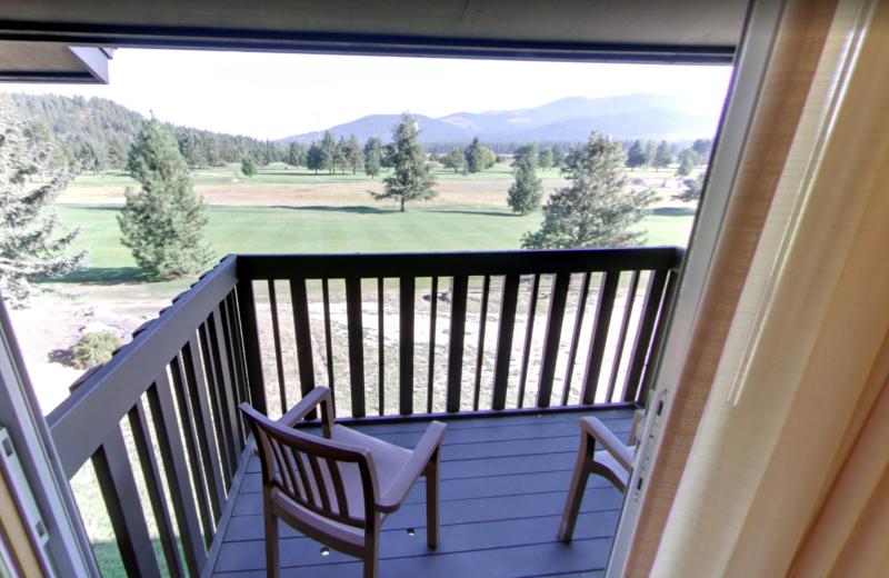 Guest balcony at Stoneridge Resort.