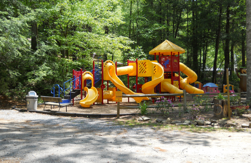 Children's playground at Yogi Bear's Jellystone Resort Cherokee.
