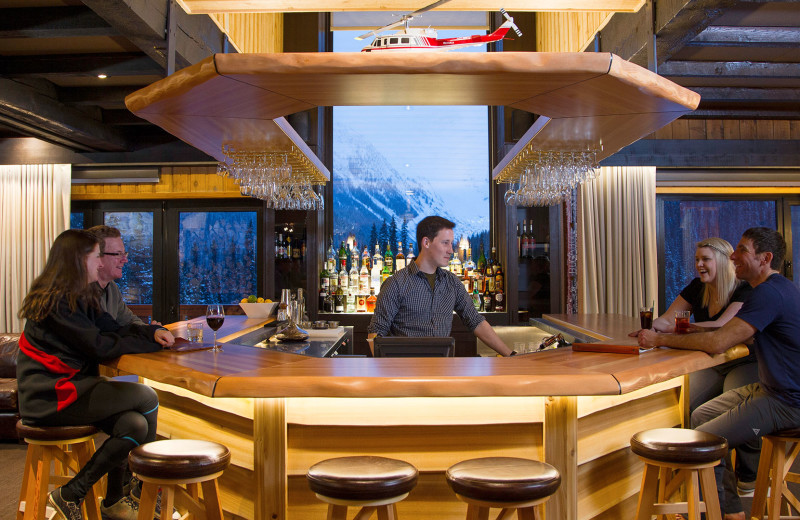 Bar at Bugaboos Lodge.