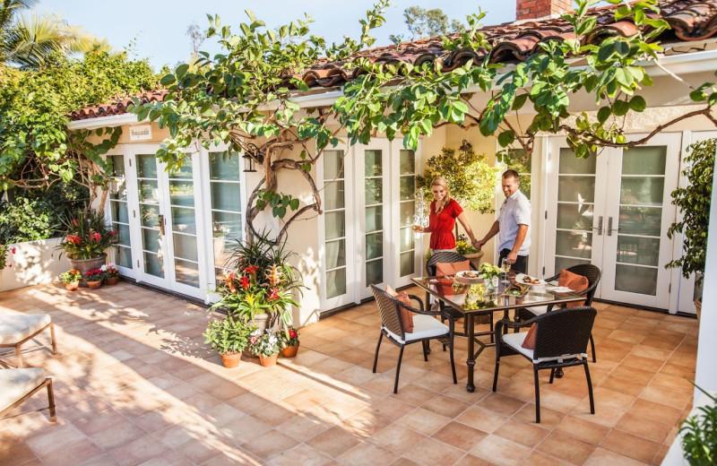 Cottage patio at The Inn at Rancho Santa Fe.