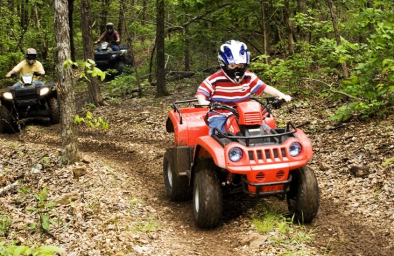 ATV tour at Stonewater Cove Resort.