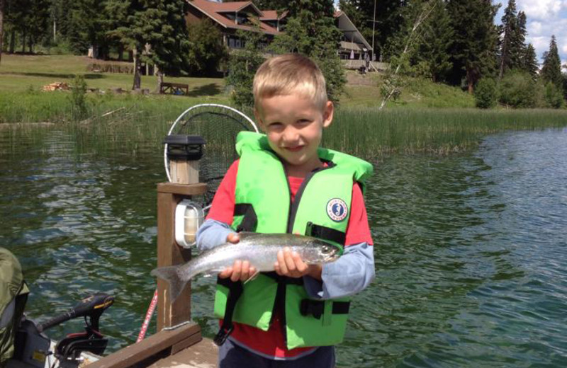 Fishing at Tyee Lake Lodge.
