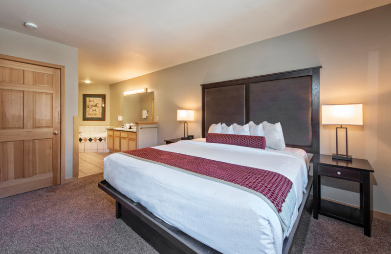 Guest room at Grand Timber Lodge.