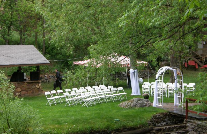 Wedding ceremony at Boulder Mountain Lodge.