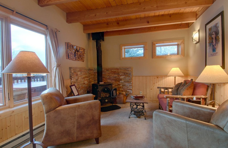 Guest living room at Vista Verde Ranch.