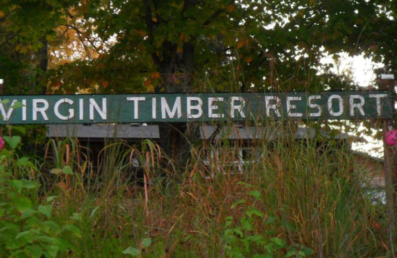 Sign for Virgin Timber Resort.
