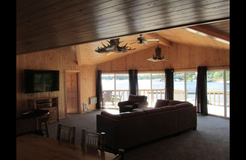 Lodge living room at Paradise Cove Resorts.