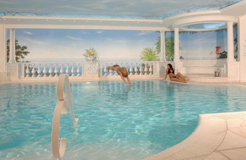Indoor pool at Hotel Schloss Dürnstein.