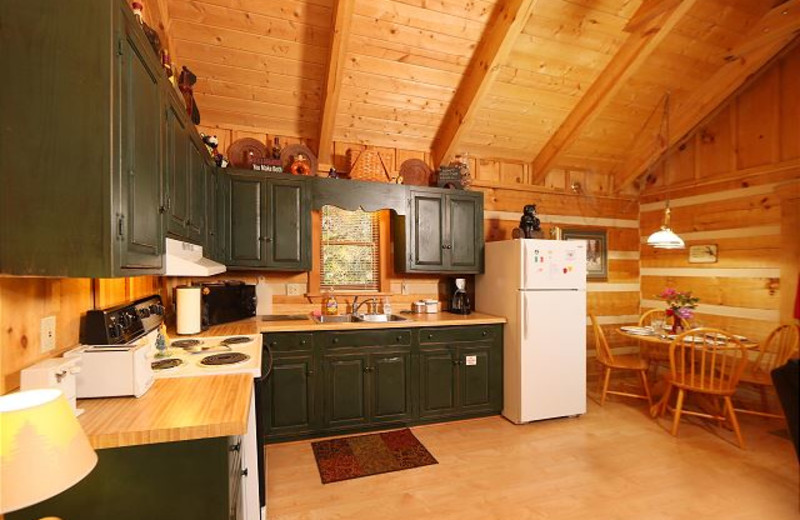 Cabin kitchen at Eden Crest Vacation Rentals, Inc.