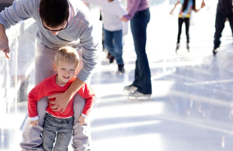 Ice skating at Aspen Square Condominium Hotel.