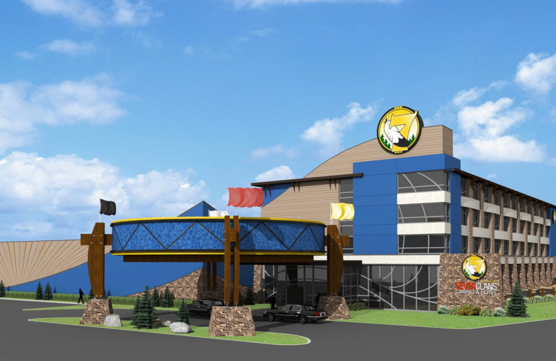 Exterior view of Seven Clans Casino Hotel.