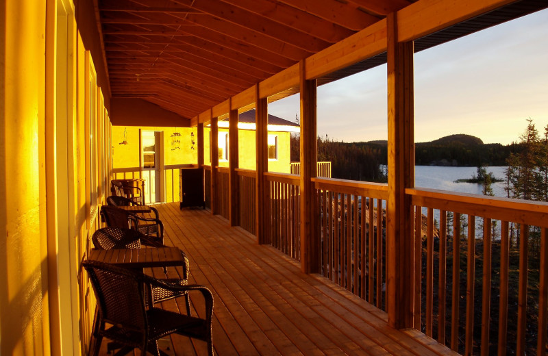 Balcony at Foster Lake Lodge.