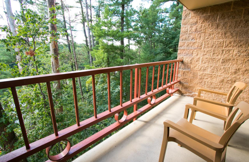 Guest balcony at Chula Vista Resort.