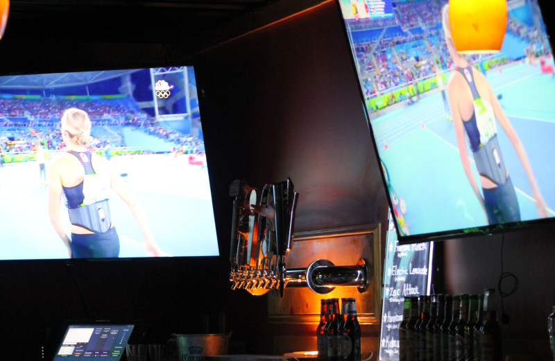 Bar TVs at Catskill Mountains Resort.