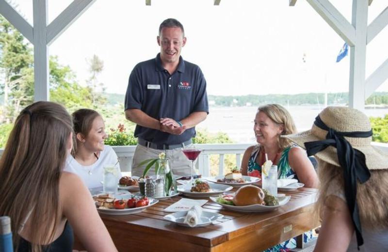 Dining at Linekin Bay Resort.