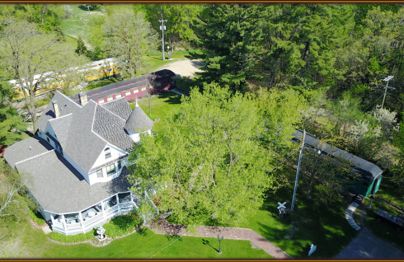 Aerial view of Whistle Stop Inn Bed & Breakfast.