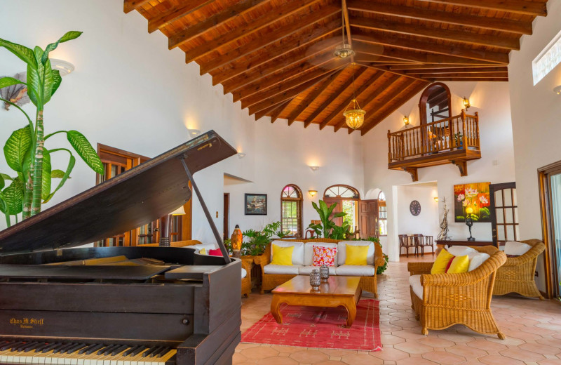 Living room at Villa Coyaba.