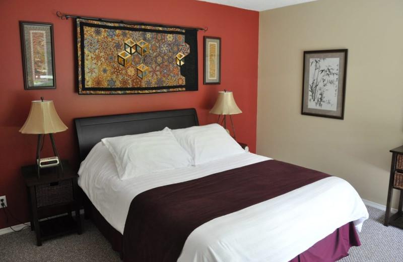 Guest bedroom at Ocean Trails Resort.