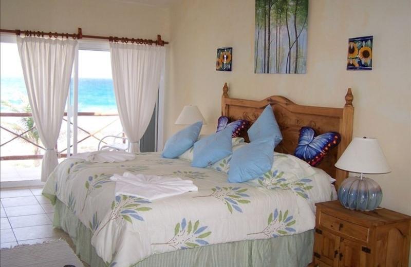 Guest room at Casa Caribe.
