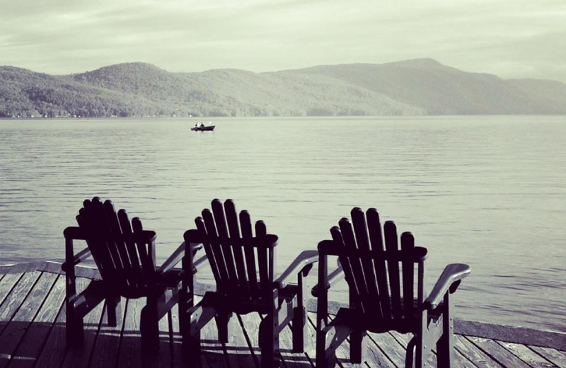Lounging at the Lake at Trout House Village Resort