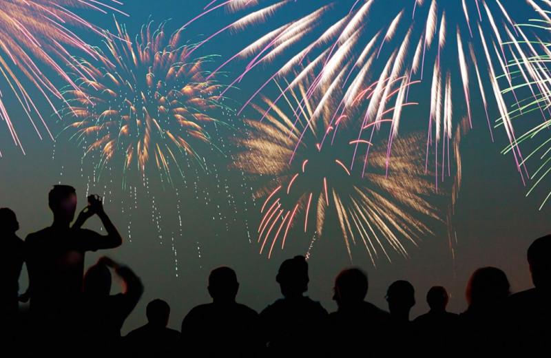Fireworks at Madden's on Gull Lake.
