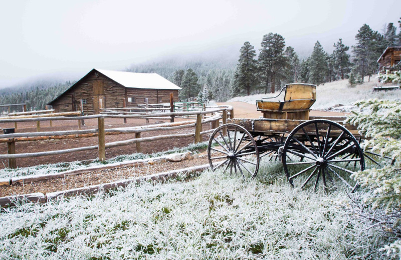Winter at Wind River Ranch.