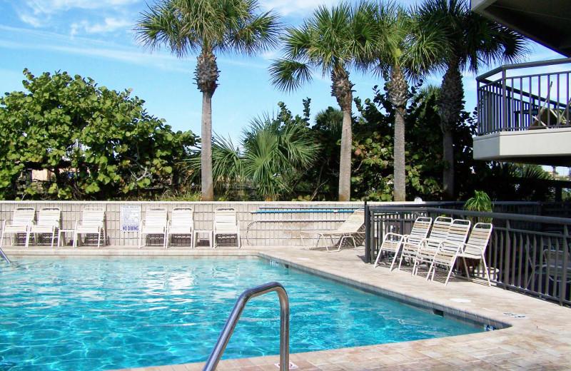 Outdoor pool at Gulf Strand Resort.