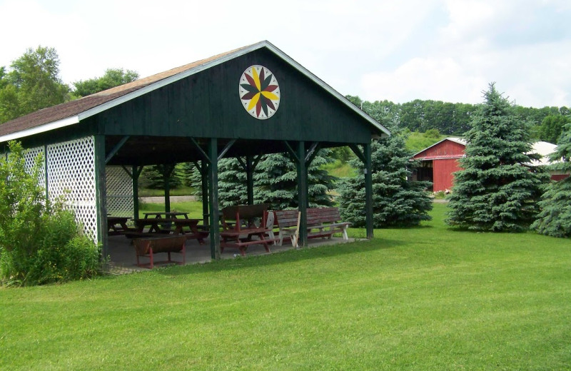 Picnic pavilion at Fieldstone Farm.