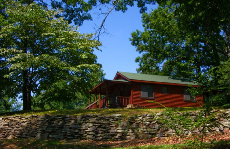 Cabin exterior at Nantahala Village.