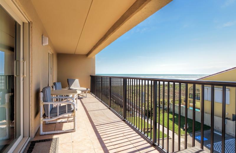 Rental balcony at Padre Getaways.