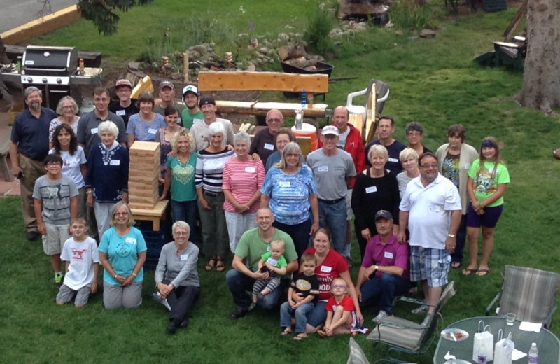 Group at Misty Mountain Lodge.