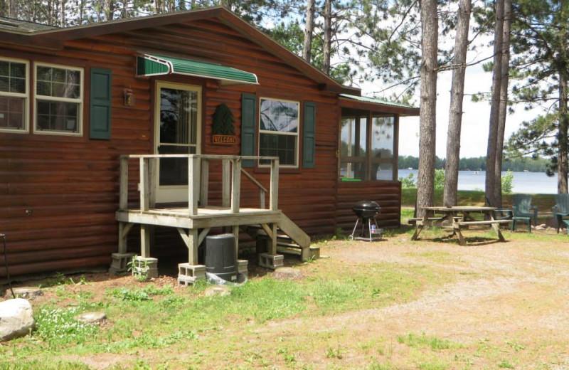 Cabin exterior at Comfort Cove Resort.