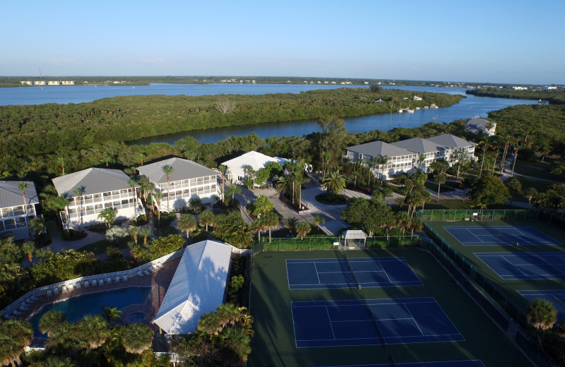 Aerial view of Palm Island Resort.