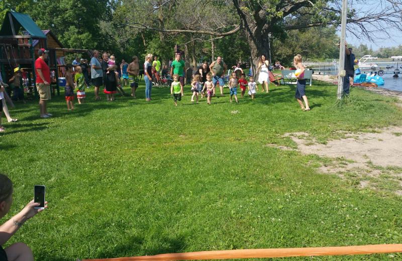 Games at Bladow Beach Resort & Campground.