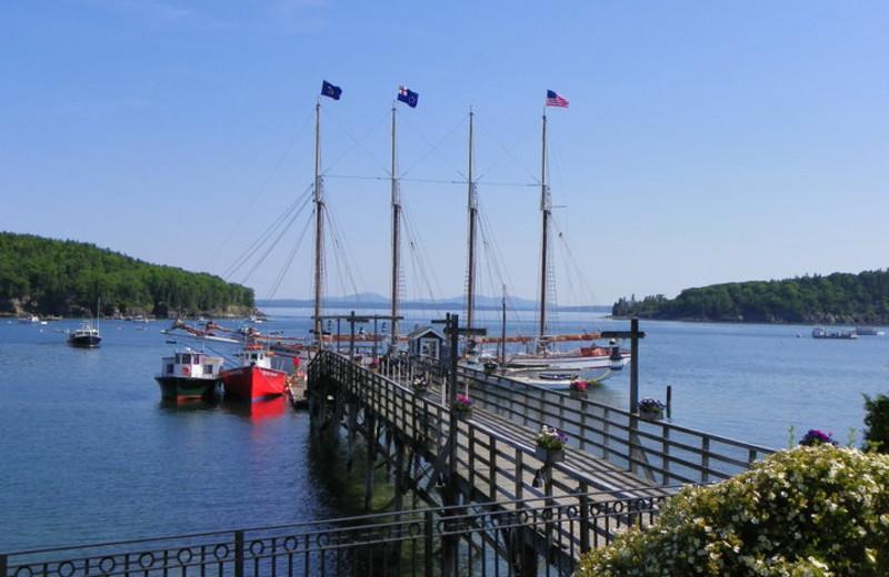 Pier view at Bar Harbor Inn & Spa.
