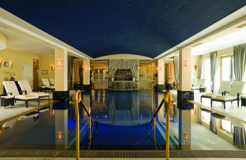 Indoor pool at Grandhotel Schloss Bensberg.