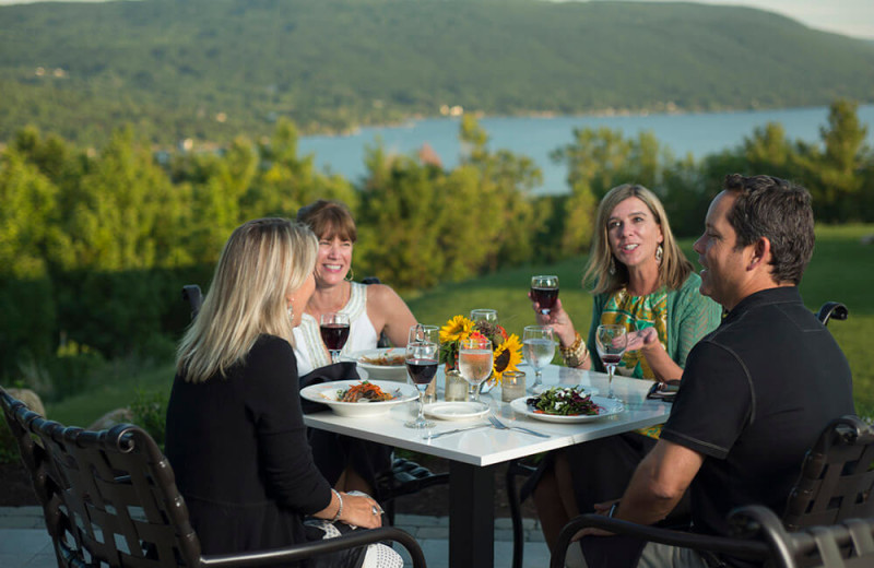 Dining at Bristol Harbour Resort on Canandaigua Lake.