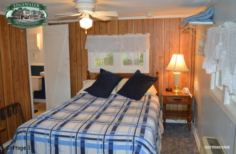 Guest room at Edgewater Inn & Cottages.