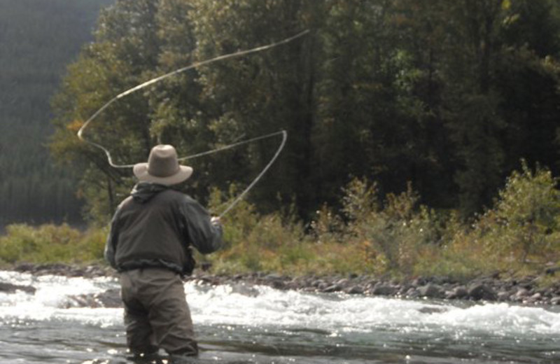 Fishing at Spotted Bear Ranch.